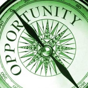 Compass Pointing the Way to Business Opportunity