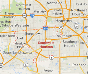 Southwest Houston map