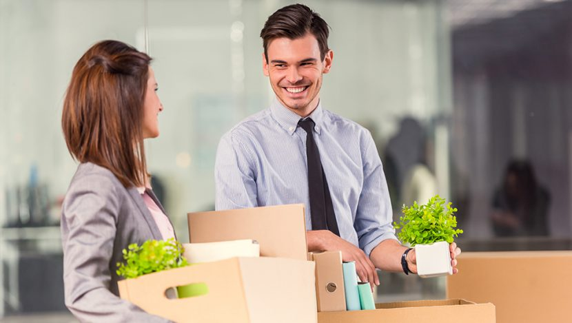 Corporate Office Space Employees Packing and Moving