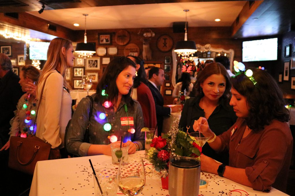 Broker Holiday Happy Hour - table